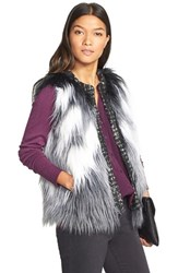 Women's Kristen Blake Long Hair Faux Fur Vest
