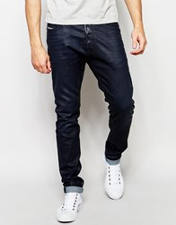 Diesel Jeans Tepphar 84Bf Skinny Fit Stretch Coated Navy Blue