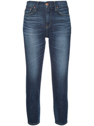 Red Card Cropped Skinny Jeans Women Cotton Polyurethane 25 Blue