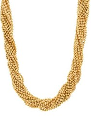 Steve Madden Beaded Layered Necklace Gold