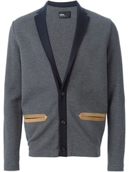 Kolor Notched Collar Cardigan Grey