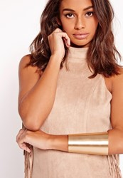 Missguided Classic Arm Cuff Gold Gold