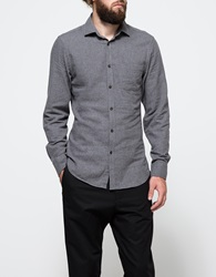 Hope Ned Pocket Shirt Dk. Grey Mel