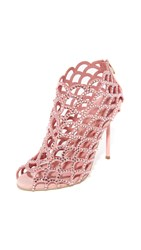 Sergio Rossi Mermaid Cage Booties Baby Rose