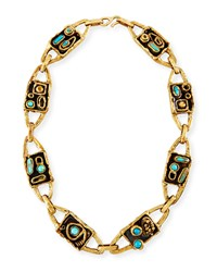 Lisa Eisner Jewelry Funky Web Necklace With Turquoise