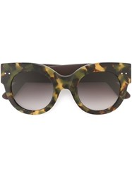 Bottega Veneta Thick Frame Sunglasses Black