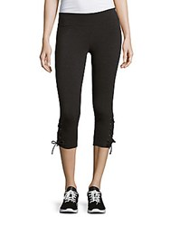 Andrew Marc New York Lace Up Cuff Leggings Black
