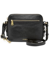 Fossil Leather Piper Toaster Crossbody Black