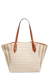 Sole Society Rooney Trapeze Tote Brown Tan Natural
