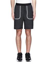 Icny 'Superdot' Reflective Print Shorts Black