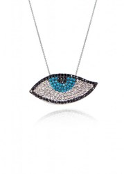 Apples And Figs Lucky Charm Evil Eye Necklace