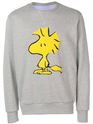 Lc23 Cartoon Style Patch Sweatshirt Grey