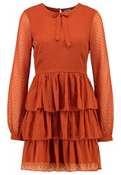 Vero Moda Vmjenna Summer Dress Ginger Bread Brown