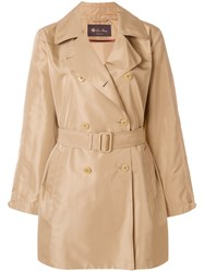 Loro Piana Double Breasted Trench Coat Nude And Neutrals