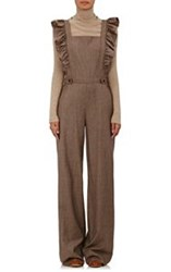 Ulla Johnson Women's Agata Checked Flannel Jumpsuit Brown