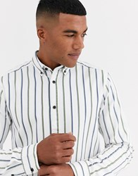 Only And Sons Stripe Shirt In White