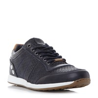 Dune Texas Mesh Panel Lace Up Trainers Navy