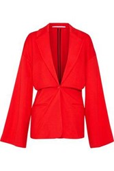 Rosetta Getty Torqued Jersey Jacket Tomato Red