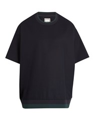 Wooyoungmi Techincal Jersey T Shirt Navy