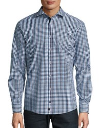 Strellson Russel Gingham Sportshirt Medium Blue
