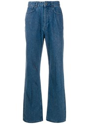 Y Project Ribbed Loose Fit Jeans Blue