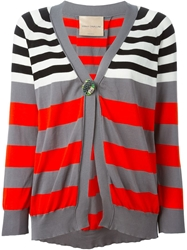 Erika Cavallini Semi Couture Stipes Cardigan Multicolour