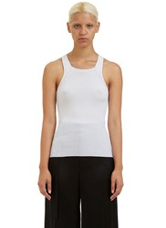Calvin Klein Brando Ribbed Knit Vest Top White