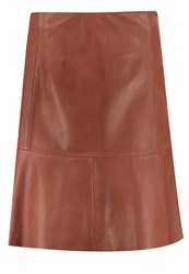 Soaked In Luxury Birgitta Leather Skirt Mocha Bisque Copper