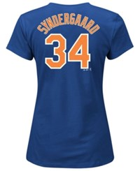Majestic Women's Noah Syndergaard New York Mets Player T Shirt Royalblue