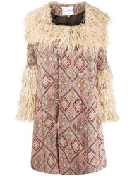 House Of Sunny Faux Fur Collar Coat 60