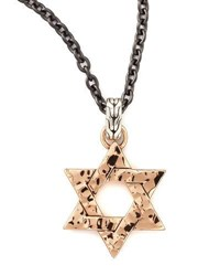 John Hardy Palu Star Of David Men's Pendant Necklace
