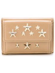 Jimmy Choo 'Nemo' Wallet Nude And Neutrals