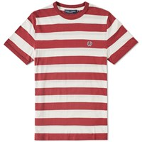Fred Perry Striped Ringer Tee Red