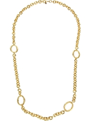 Monet Vintage Rolo Chain Necklace Metallic