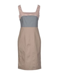 Nina Knee Length Dresses Beige