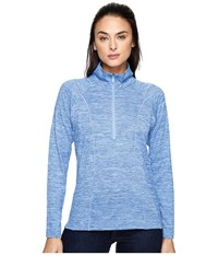 Kuhl Vara 1 4 Zip Atlantis Women's Long Sleeve Pullover Blue