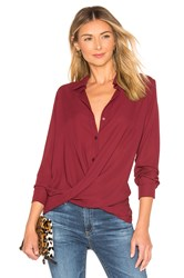 Krisa Surplice Blouse Burgundy