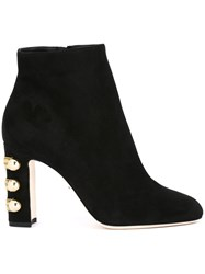 Dolce And Gabbana Military Detail Ankle Boots Black