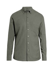 Ermenegildo Zegna Long Sleeved Cotton Button Cuff Shirt Grey