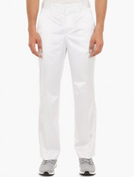 Our Legacy Bright White Satin Trousers