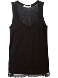 Sacai Luck Lace Cami Tank Top Black