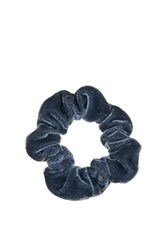 Topshop Mini Velvet Scrunchie Light Blue