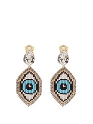 Shourouk Emojibling Eye Earrings Blue Multi