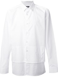 Raf Simons Regular Fit Layered Shirt White