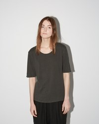 Black Crane Back Seam Tee Grey