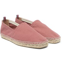 Castaner Pablo Washed Canvas Espadrilles Antique Rose