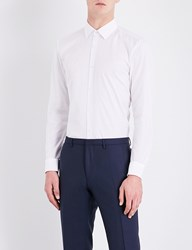 Boss Slim Fit Cotton Shirt White