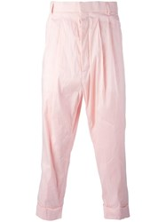Haider Ackermann Drop Crotch Trousers Pink Purple