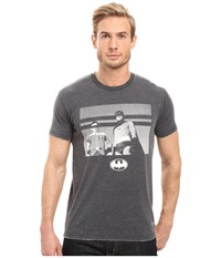 Kinetix Batman And Robin Charcoal Men's T Shirt Gray