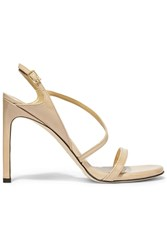 Stuart Weitzman Sensual Patent Leather Sandals